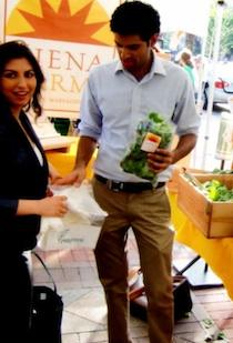 Fenugreen was growing fast even before taking a startup competition prize this week, according to founders Kavita Shukla and Swaroop Samant, pictured here at the Copley Square Farmers Market.