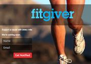 """Fitgiver, whose tagline is """"support a cause with every mile you run or ride."""" YouTube demo here."""