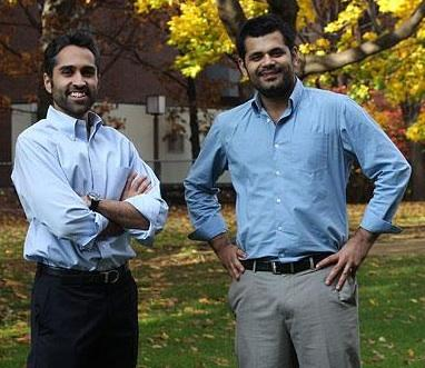 Ginger.io has raised $6.5 million in Series A funding. (Pictured: co-founders Karan Singh (left) and Anmol Madan.)