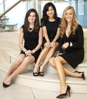 Her Campus Media co-founders Stephanie Kaplan (left), Annie Wang (center) and Windsor Hanger came up with the now-trademarked term 'collegiette' before launching Her Campus in 2010.