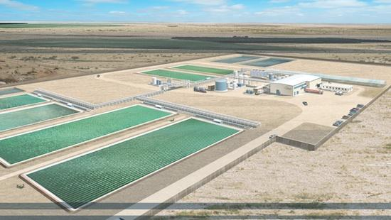 Joule has commissioned its first fuel production demonstration plant, in Hobbs, N.M., shown here in a rendering.