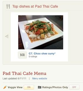 "Brookline's Tasted Menu recently added a ""Veggie View"" button to its restaurant dish recommendation site and app, which filters out non-vegetarian items from a restaurant's menu."