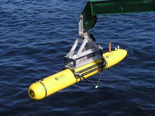 Bluefin Robotics of Quincy operates Autonomous Underwater Vehicles (AUVs), like the one pictured here, and related technology for scientific, commercial and defense.