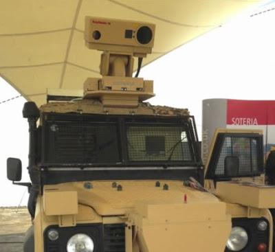 Raytheon UK, a division of Waltham, Mass. -based Raytheon Co. has developed the stand-off IED, dubbed Soteria, with Laser Optical Engineering Ltd., a Loughborough University spinoff.