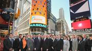 Employees of Akamai celebrated the company's 15-year anniversary by heading to New York to ring the Nasdaq opening bell.
