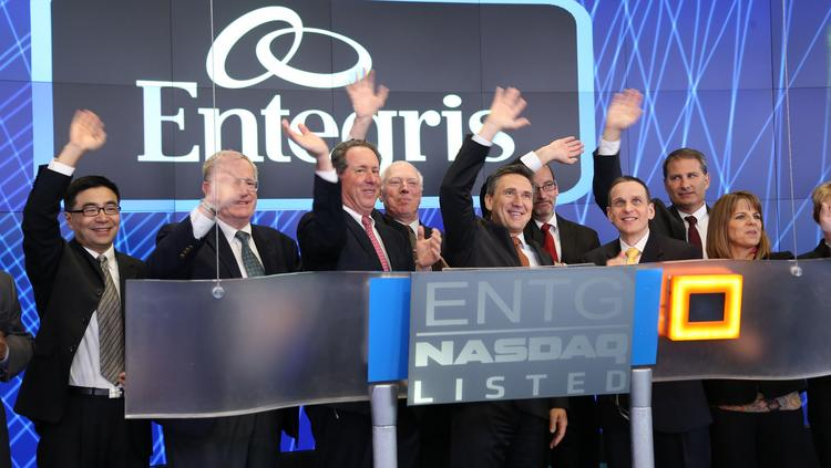 Staff at Entegris Inc. (Nasdaq:ENTG) in Billerica, Mass. rang the Nasdaq opening bell on Wall Street Tuesday.