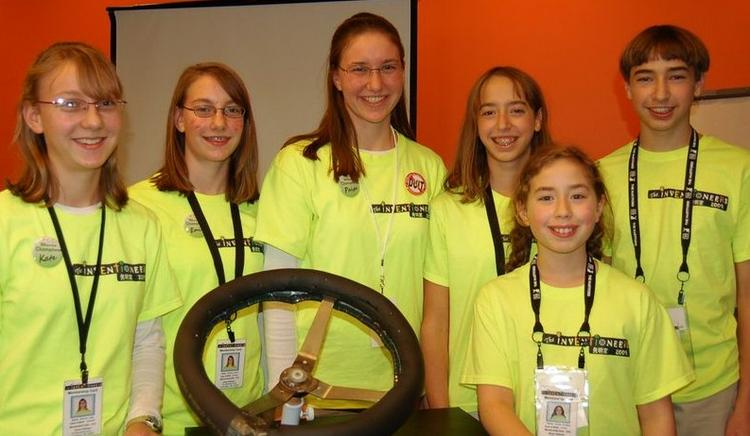 """The inventioneers team including Tristan """"TJ"""" Evarts, Kate Balcom, Jaiden Evarts, Emily Balcom, Bryeton Evarts and Paige Balcom will be featured in an episode of Shark Tank."""