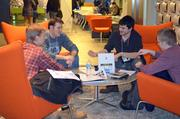 As with any MassDiGI Game Challenge there is mentoring as seen here in this photo.