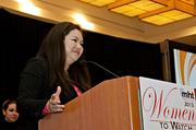 Susie Truong Harborth, CFO at GnuBIO thanked family and co-workers while accepting her award at the 2013 Mass High Tech Women To Watch awards breakfast.