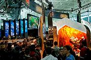 The League of Legends had one of the larger booths at the PAX East 2013 game industry show and was one of the more popular draws.