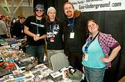Showing up above ground at PAX East 2013 was Framingham's Game Underground's Lee Hermsdorf-Krasin, Ryan Nolan, James York and Jackie Monahan.