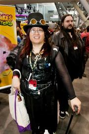 Melody Legaspi from Gales Ferry, Conn. was a character from Steampunk at the PAX East 2013 game industry show.