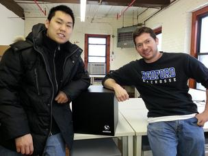 The Sookbox was launched today by the company of the same name. The company's principal is David Sukoff (right), and hardware engineer is Christopher Lee (left).
