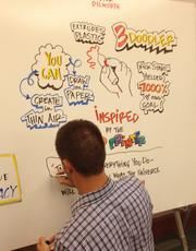 Here, one of the TEDxBoston hosts adds some of the comments made by Peter Dilworth at 3Doodler during his talk at TEDxBoston about how one can take their pen off paper and draw things exactly how they imagine.