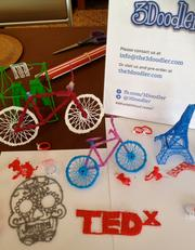 Peter Dilworth of 3Doodler discussed how taking your pen off the paper lets you draw things exactly as you imagine. Many examples were on display at TEDxBoston, an independently organized TED event.