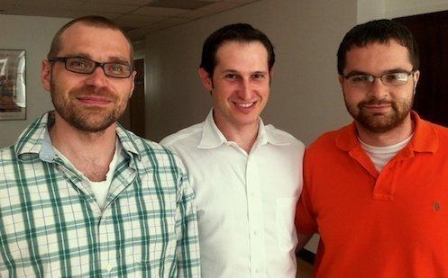 DraftKings' three co-founders, from left, are Matt Kalish, Jason Robins and Paul Liberman.