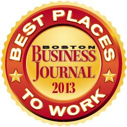 BBJ names 2013's Best Places to Work in Massachusetts