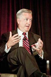 Mark Haton, president and CEO of Core Security took part  in the panel discussion at the Boston Business Journal's 2012 Pacesetters Awards Breakfast.