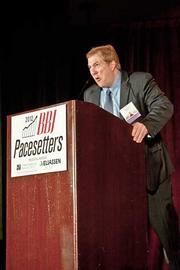 Wayfair's Chuck Casto demonstrated some gusto with his acceptance speech for their Pacesetters award at the Boston Business Journal's 2012 Pacesetters Awards Breakfast.