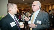 Enjoying morning conversation over coffee at the Boston Business Journal's 2012 Pacesetters Awards Breakfast were Citizens Bank's Joe Wadlinger and Rick Zilewicz.