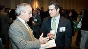 Caught on camera at the Boston Business Journal's 2012 Pacesetters Awards Breakfast were WBZ TV's Mike Nelson and Kyle Naton.