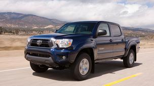 File photo of the Toyota Tacoma. The Japanese automaker is conducting a safety recall on 150,000 vehicles in cold-weather states.