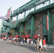 "In 2008, ""Bleacher Bar"" opened in a former equipment storage area beneath Fenway's center-field bleachers. Fronting onto Lansdowne Street, the bar allows patrons to look out over the Fenway outfield."