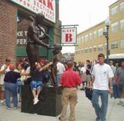 Prior to 2010, one statue of Ted Williams stood on Van Ness Street, outside Fenway Park.