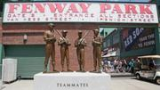 "In 2010, the Red Sox unveiled ""The Teammates,"" a statue of Ted Williams, Bobby Doerr, Dom DiMaggio and Johnny Pesky. An existing statue of Ted Williams with a child was moved a few feet down Van Ness Street to accommodate the new statue."