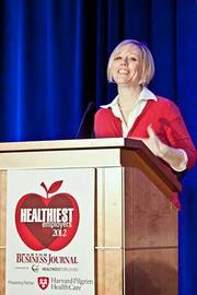 Winner of the Healthiest Employer Small Company category went to MiddleOak. Accepting the award was Suzanne Wilson, senior vice president of human resources.