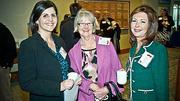 Networking at the Boston Business Journals Healthiest Employers awards breakfast were from left: Tricia Murray of Hebrew Senior Life, Irene Anderson of New England Baptist Hospital Occupational Medicine and Joanne Sargent of Sargent & Associates.