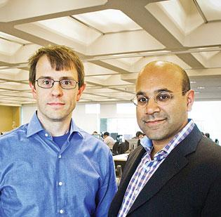 Company: Wayfair. Prediction: Will become profitable in 2012. (Pictured are Wayfair founders Steven Conine and Niraj Shah.)