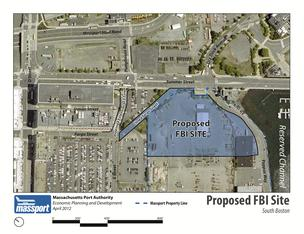 Proposed site for an FBI headquarters in South Boston.