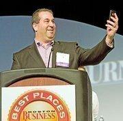 Medium-size business: Allen & Gerritsen. CEO Andrew Graff accepted Allen & Gerritsen's Best Places award in 2011.