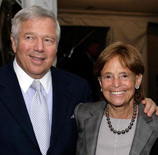 Philanthropist Myra Kraft used her prominence as the wife of New England Patriots owner Robert Kraft to make a lasting impact in Boston's nonprofit sector. She died Wednesday at 68, after battling cancer. The two are pictured here at a United Way fundraiser.