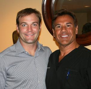 Wes Welker and Dr. Robert Leonard
