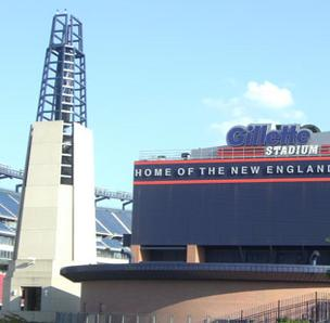 Photo of the New England Patriots' home field, Gillette Stadium.