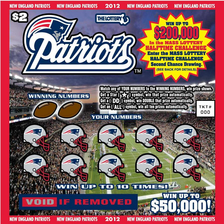 $2 New England Patriots lottery ticket to kick off in