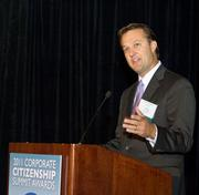 Large business: Comcast. Senior regional VP Steve Hackley at the BBJ's 2011 Corporate Citizenship Awards.