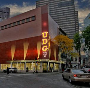 Artist's rendering of planned Uno Due Go in downtown Boston.
