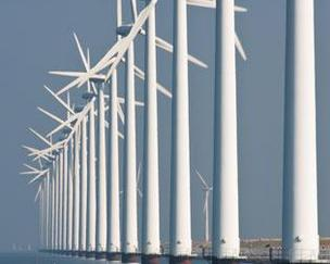 Photo of a Dutch offshore wind farm