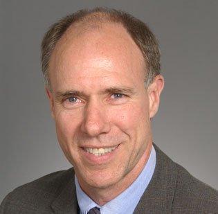Genzyme CEO David Meeker spoke at the World Health Forum at Harvard Medical School, Thursday.