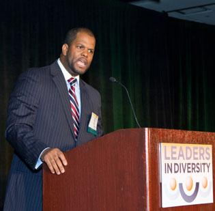 Northeastern University's Emmett G. Price III gave the keynote at the BBJ's Leaders in Diversity event, Friday.