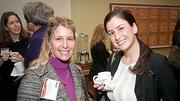Part of those networking at the Boston Business Journal's 2012 Advancing Women program were Ludmila de Spagnolis with Lee Hecht Harrison and Elizabeth Rielly of Deloitte.