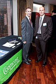 Representing Comcast at the Boston Business Journal's Forty Under Forty event was Keith Enos and John Thompson.