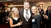 Having a good time at the Boston Business Journal Forty Under Forty event were from left: Wynne Levine of Vistage International, A.J. Gerristson of 451 Marketing and Katherine Greaney of Synergy Investment & Development.
