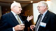 Synergy Investment & Development's Brian Sopp and Neal Finnegan talking shop at the Boston Business Journal Forty Under Forty event.
