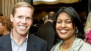 Boston Business Journal Forty Under Forty honorees Matt Fates of Ascent Venture Partners and Aisha Francis-Samuels of Crittenton Women's Union.