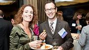 Temperature@lert's Michelle Keefe  with co-worker and Boston Business Journal Forty Under Forty honoree Harry Schechter.