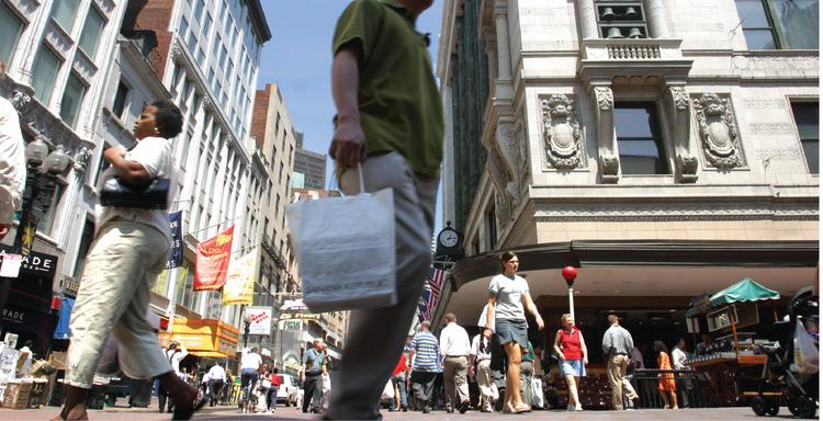 The mayor of Boston would like to see more crowds like this in Downtown Crossing. The city is spending $3.2 million on a new round of improvements in the troubled downtown retail district.